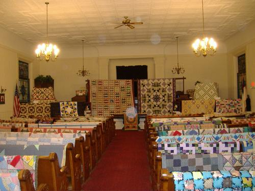2013 Quilt Show - Main aisle looking toward altar