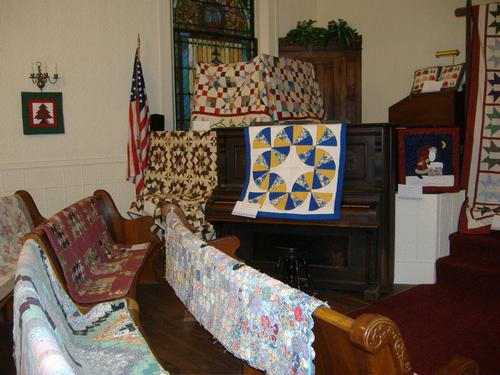 2013 Quilt Show - Choir loft area