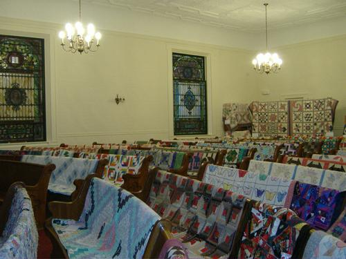 2013 Quilt Show - southeast corner (rear of church)