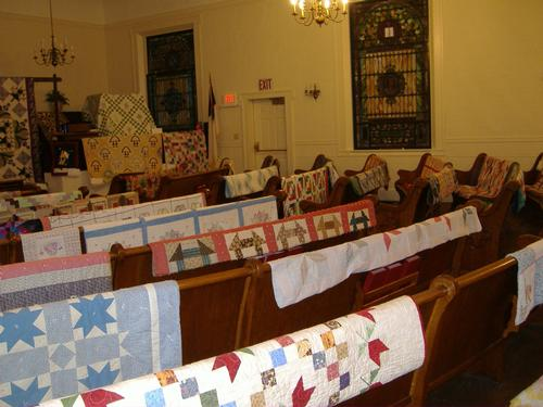 2013 Quilt Show - northeast corner (front pulpit side)