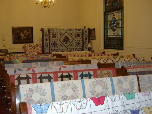 2013 Quilt Show - southwest corner (rear of church)